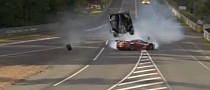 Toyota TS030 and Ferrari 458 GTE - Massive Crash at LeMans [Video]