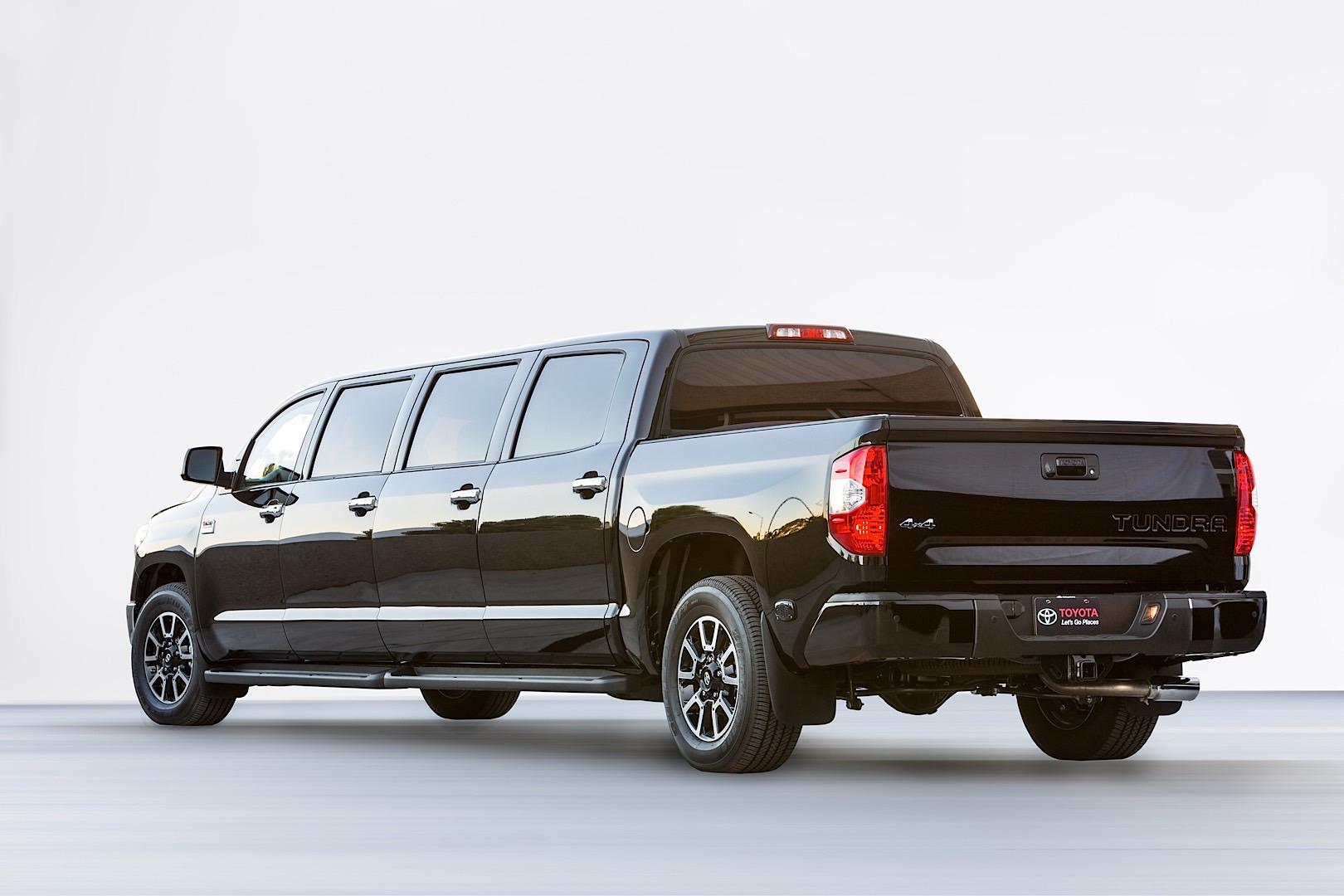 Toyota tundrasine is a luxury pickup limousine because sema autoevolution