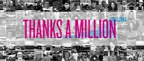 Toyota USA Says Thank for a Million Facebook Fans