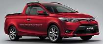 Toyota Vios Rendered as Pickup