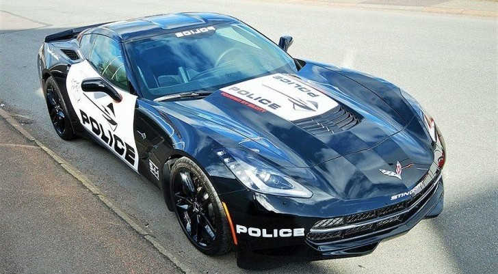 "2014 Corvette Stingray For Sale >> Transformers-like Corvette Stingray ""Police Car"" For Sale ..."
