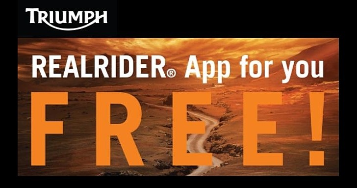 Triumph Offers the Realrider Safety App for Free