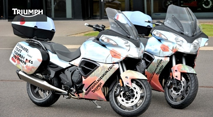 Triumph Trophy Bikes in the Thankful Villages Charity Run