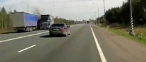 Truck Driver Falls Asleep at the Wheel [Video]