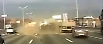 Truck Fails to Brake in Time - Causes Huge Crash on Russian Highway [Video]