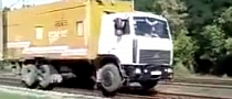 Truck Thinks It's a Train in Russia [Video]