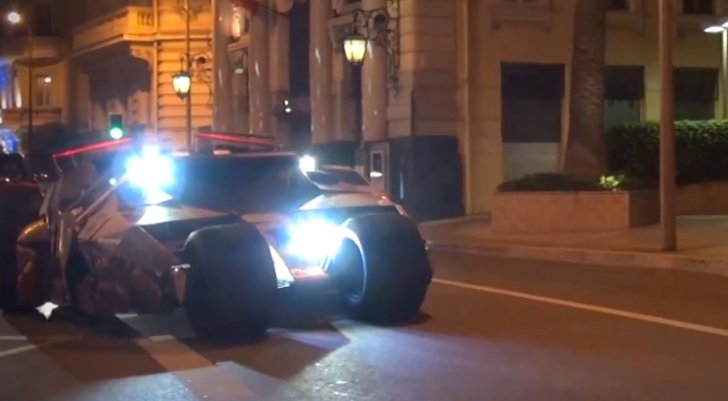 Tumbler Batmobile Driving in Monaco [Video]