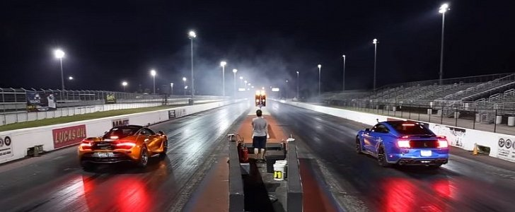 Tuned 2020 Ford Mustang Shelby GT500 Drag Races McLaren 720S, Demolition Follows - autoevolution