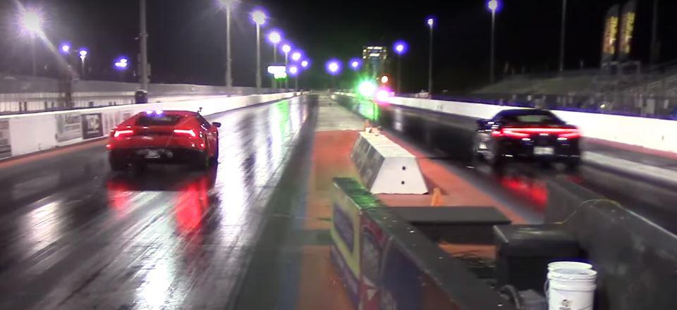 Tuned Acura NSX Drag Races Lamborghini Huracan, Destruction