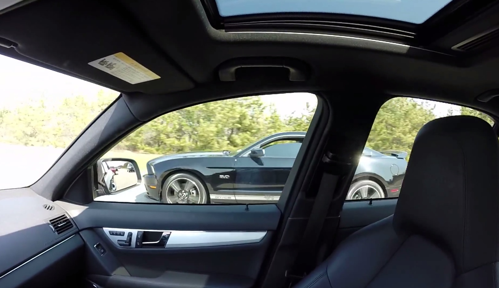 Tuned C Amg Vs Tuned Ford Mustang Gt V Video