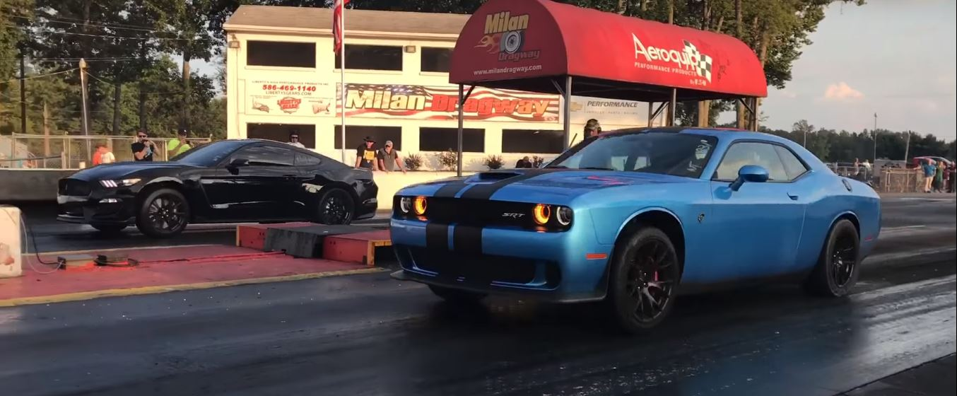 1,700 HP Fight: Tuned Hellcat vs  Procharged Shelby GT350
