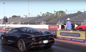 tuned mclaren 720s does 2 1s 0 60 mph while drag racing dodge demon