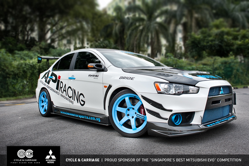 Tuned Mitsubishi Lancer Evo X Rocks Singapore - autoevolution