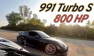 Tuned Porsche 911 Turbo S Races McLaren 720S, Somebody Gets Trampled