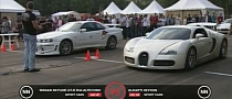 Tuned Skyline GT-R R34 Vs. Veyron Drag Race [Video]
