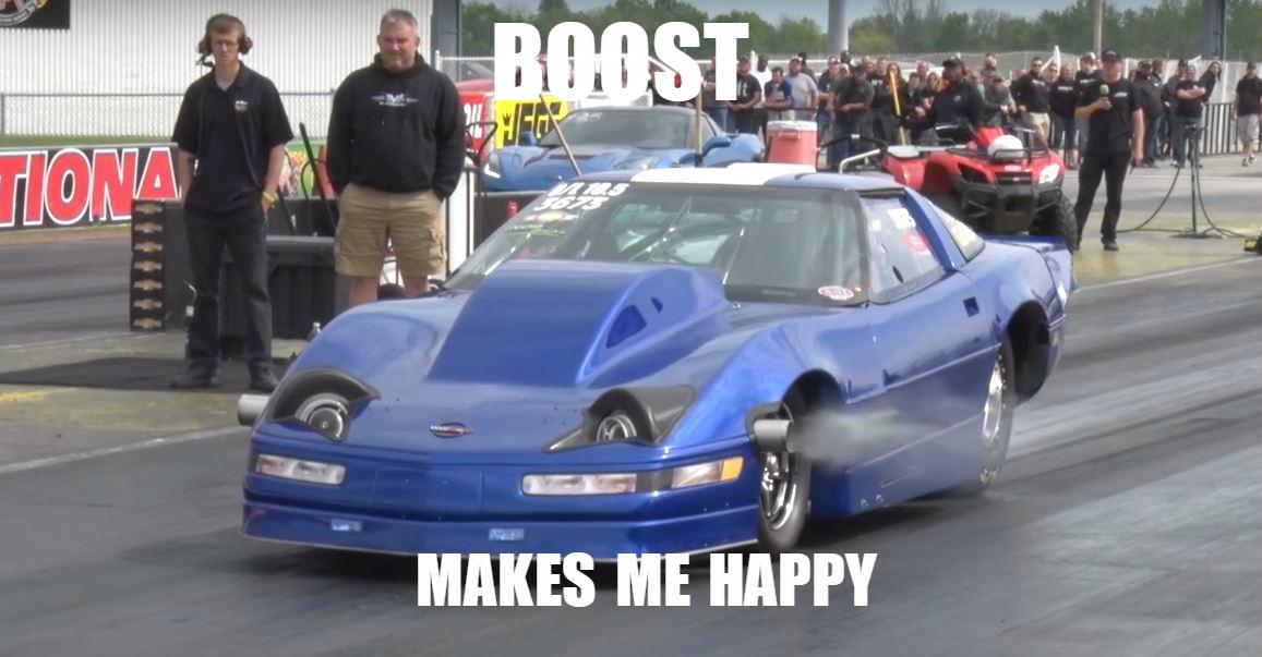 Turbo Headlights Make This C4 Corvette Drag Racer Faster. No ...