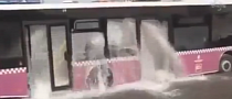 Turkish Fountain: Bus Hits Fire Hydrant [Video]