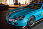 Turquoise Blue SLR 722 Spotted in London [Video]