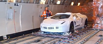 Turquoise Lamborghini Aventador Gets Off the Plane in Qatar [Video]