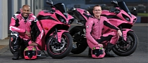 TV Stars Riding Pink Bikes for Charity
