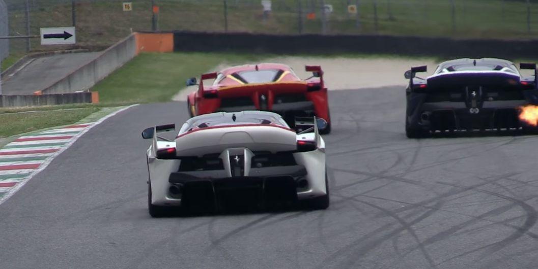 Twenty-One Ferrari FXX K Racecars Screaming on Mugello Circuit ...