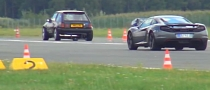 Twin-Engined 700 HP Opel Corsa Drag Races McLaren MP4-12C [Video]