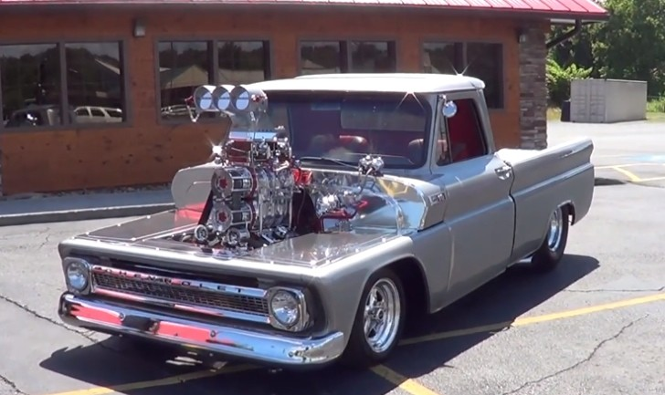 twin supercharged 1965 chevy pickup will blow your mind autoevolution