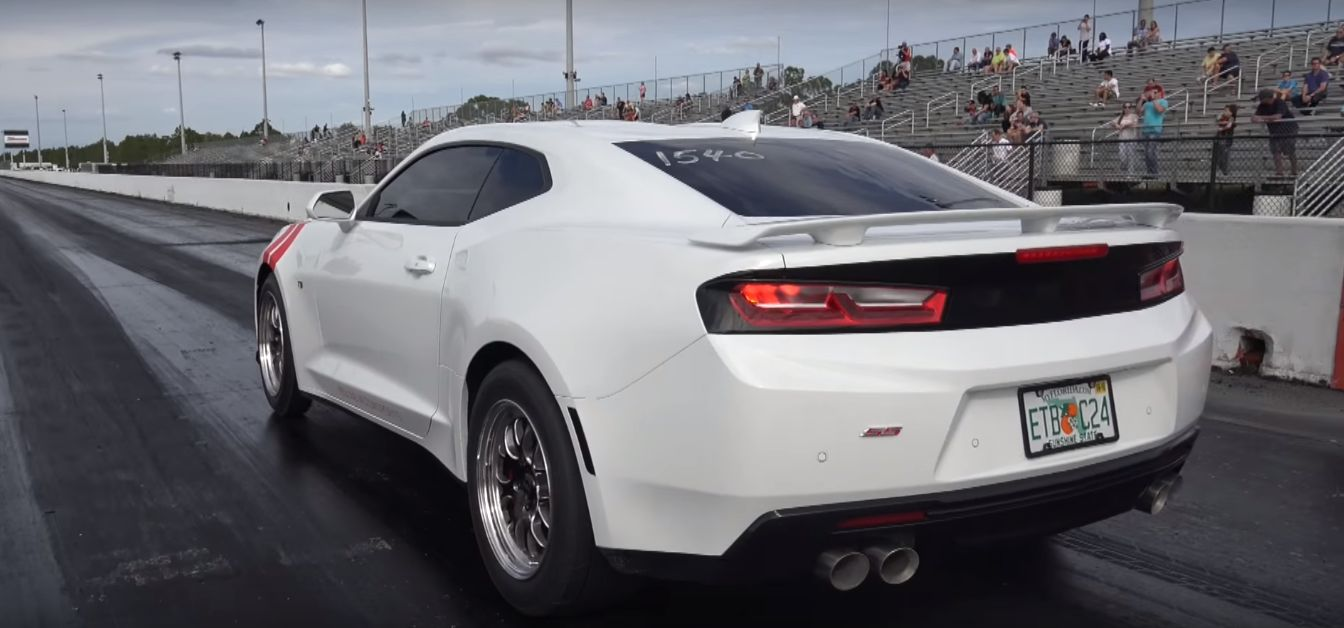 Twin turbo 2016 camaro ss practices its quarter mile while waiting for built 427 autoevolution