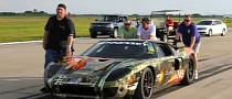 Twin-Turbo Ford GT Sets New Standing Half Mile Speed Record [Video]