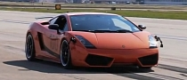 Twin Turbo Gallardo Hits 204 MPH at Houston Mile [Video]