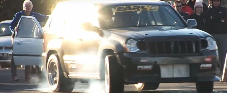Twin Turbo Jeep Grand Cherokee Srt8 Goes Drag Racing Aims For 8s Run Autoevolution