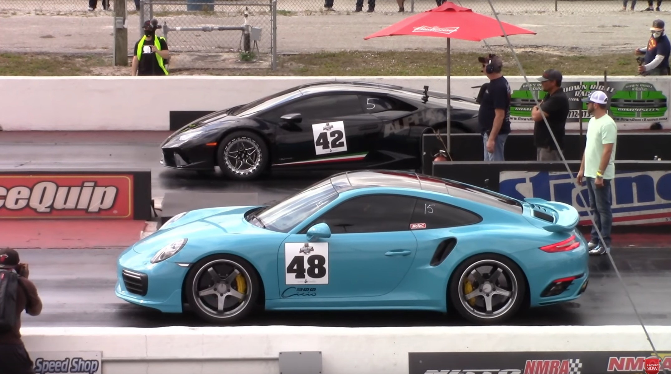 photo of Twin-Turbo Lambo Huracan Is an 8-Second Car, Destroys Porsche 911 Turbo S image