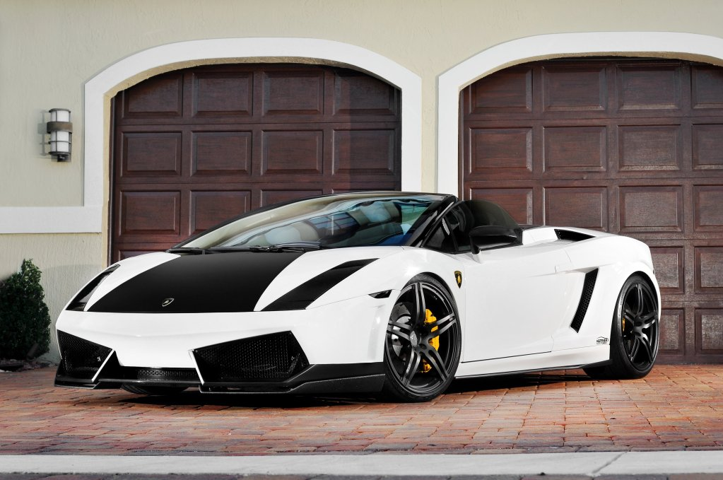 Twin Turbo Lamborghini Gallardo Plays Black White Game Autoevolution