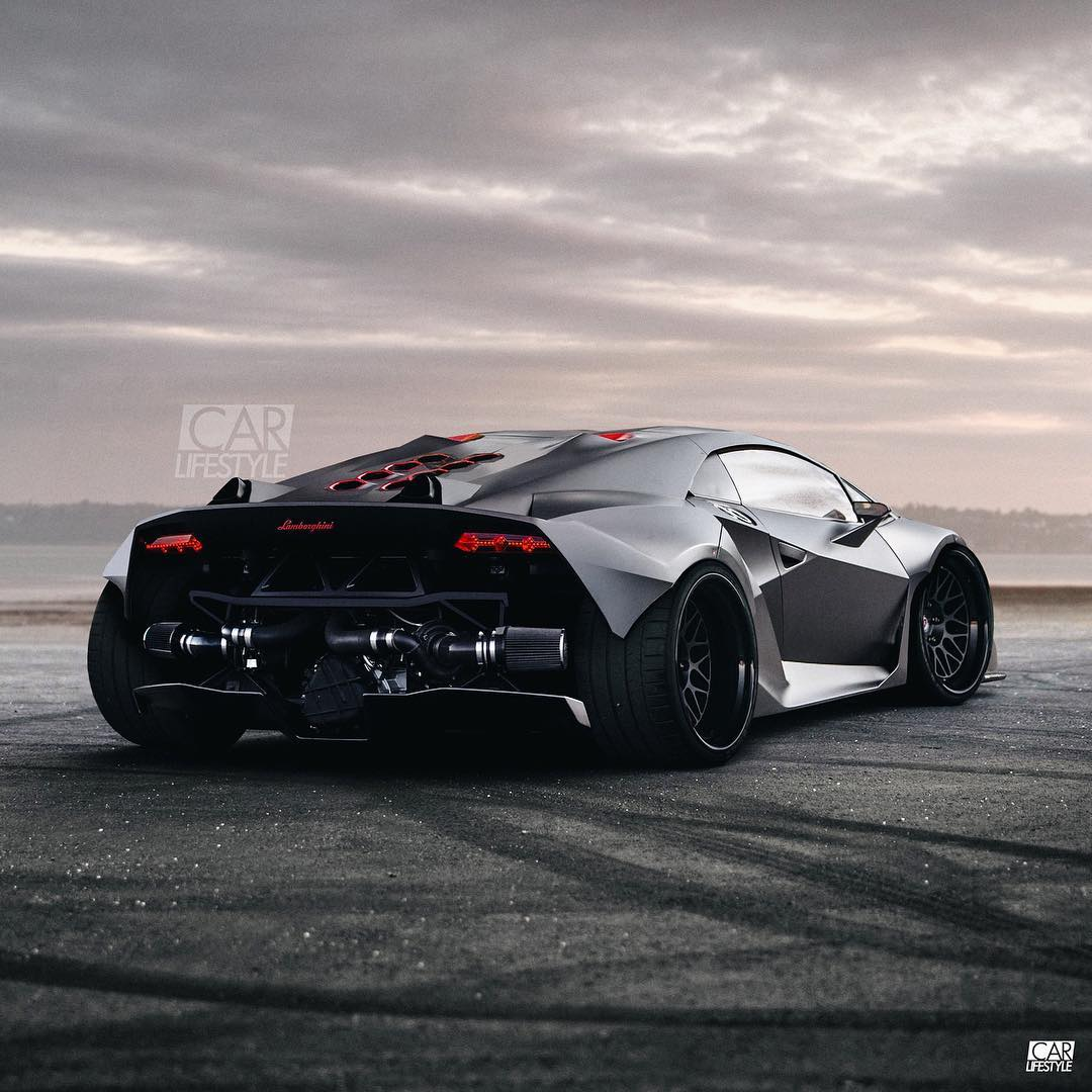 Twin Turbo Lamborghini Sesto Elemento Widebody Rendering Is Ready To
