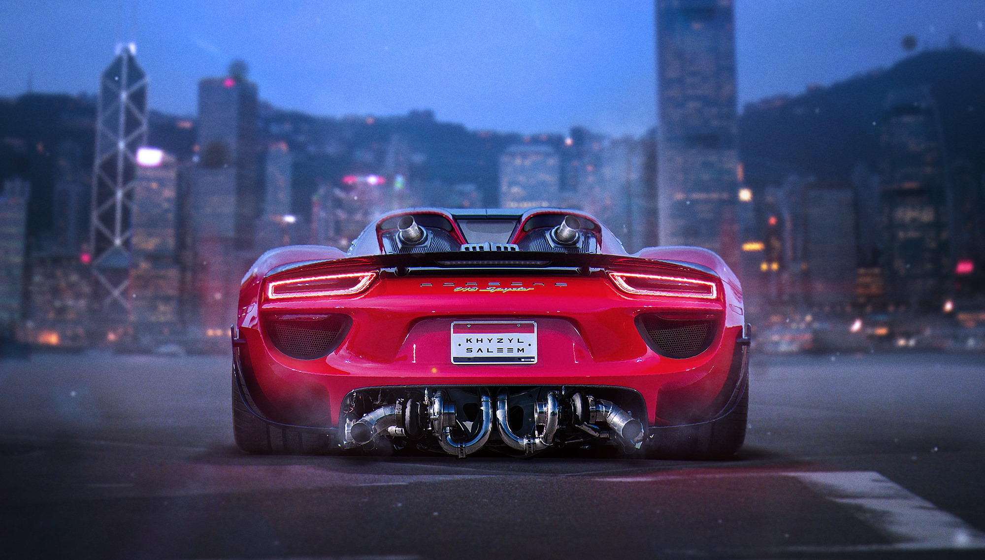 Twin Turbo Porsche 918 Spyder Rendered The Imaginary