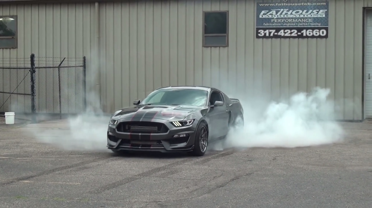 Twin-Turbo Shelby GT350 Mustang Brutalizes Its Rear Tires