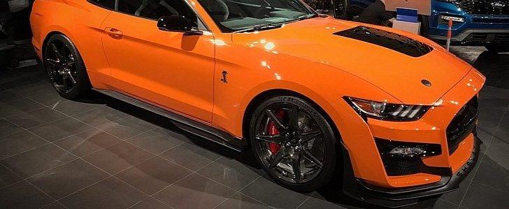 Twister Orange 2020 Mustang GT Shelby GT500 Looks Ballistic In The Flesh - autoevolution