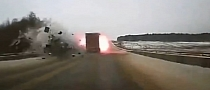 Must Watch - Two 18-Wheelers Collide Head-On and Explode! [Video]