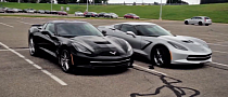 Two 2014 Corvette Stingrays Sitting in GM Parking Lot [Video]