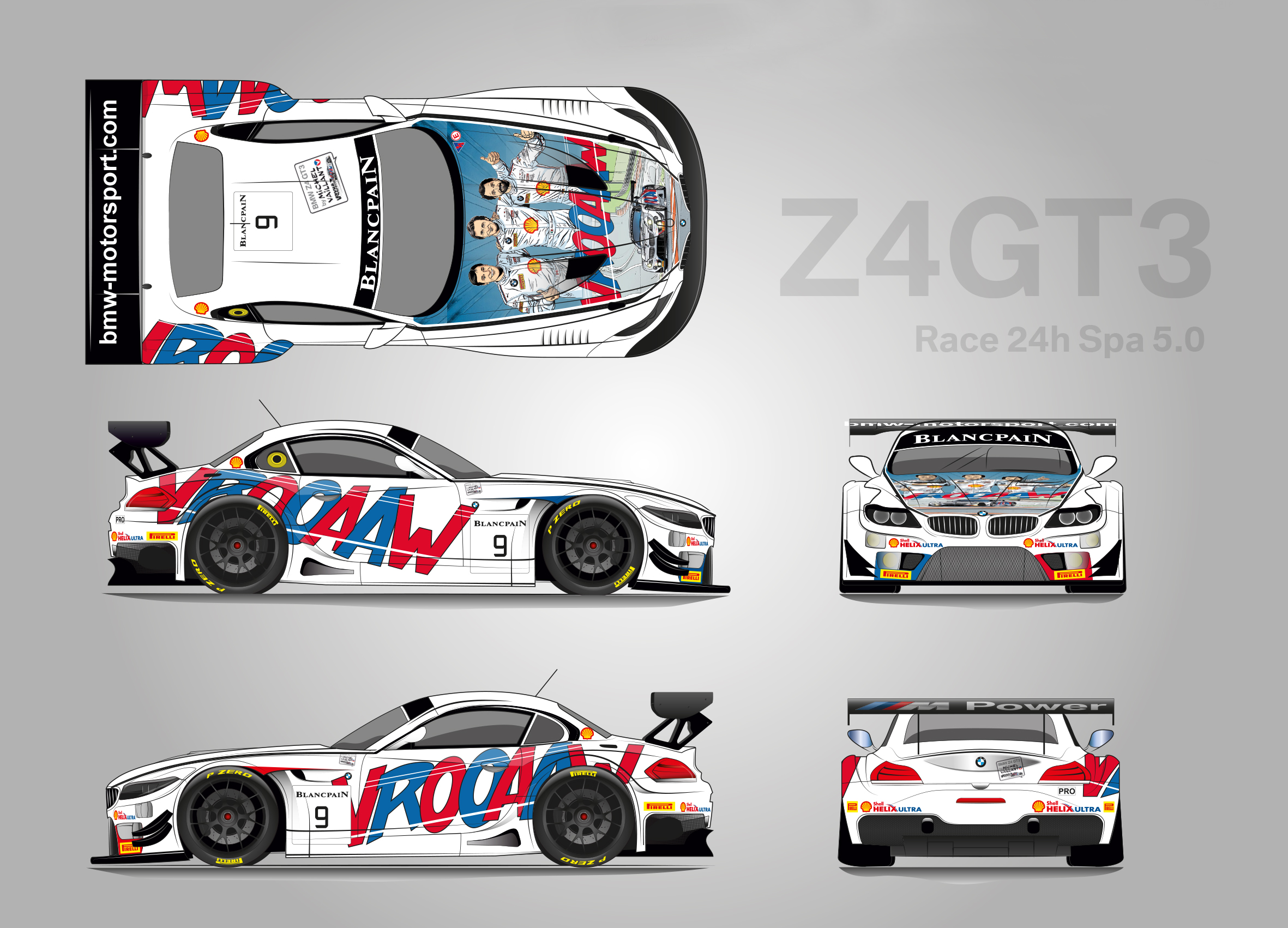 Two Bmw Z4 Gt3s Will Have A Special Comic Book Livery At