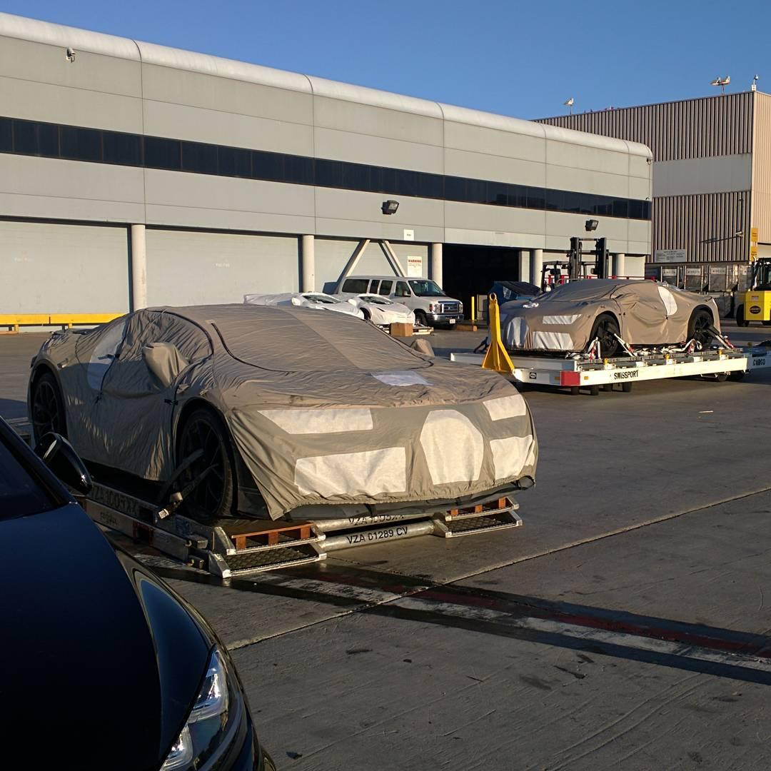 Two Bugatti Chiron Hypercar Prototypes Spied At Los