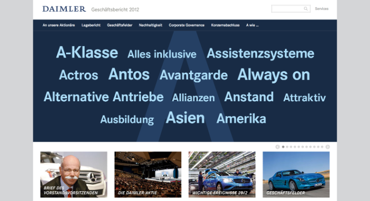 Two Gold and Two Bronze Awards for Daimler's 2012 Annual Report