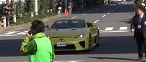 Two Lexus LFA Spyder Surfacing in Japan