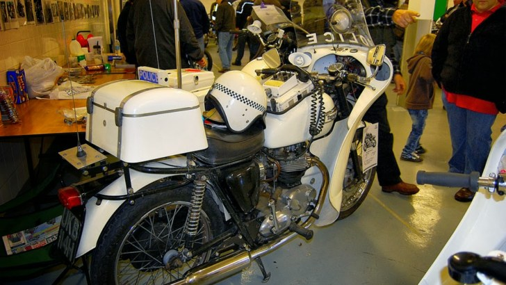 Two Retro Police Bikes from the UK