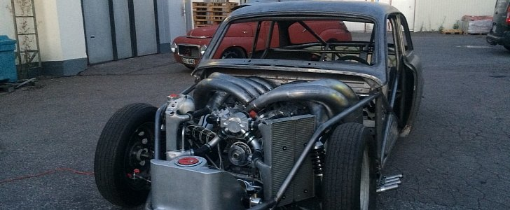 two stroke v8 turns this volvo amazon into a wacky. Black Bedroom Furniture Sets. Home Design Ideas