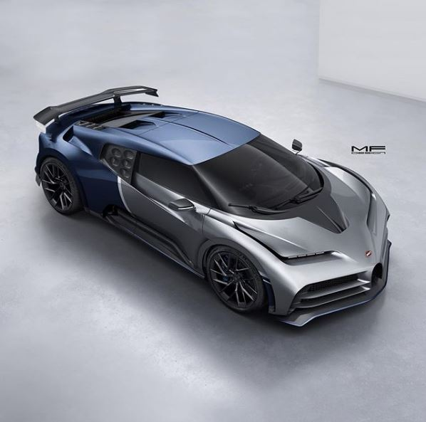 The Bugatti Centodieci is a Chiron-based EB110 tribute