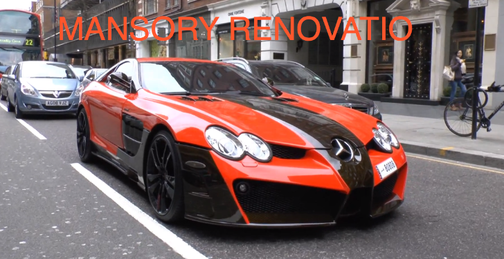 Two-Tone Mansory Mercedes SLR Renovatio Spotted in London [Video]