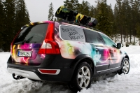 A Burton customized Volvo XC60