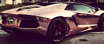 Tyga Gets a Rose Gold Aventador Roadster