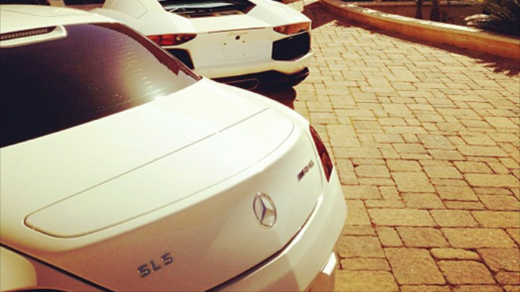 Tyga Shows All-White Car Collection: SLS, Aventador, Rolls and G-Wagon
